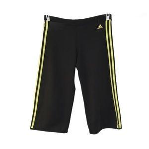 Adidas Clima 365 Black Wide Leg Capri Track Pants